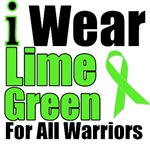 I Wear Lime Green Ribbon For All Warriors