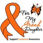Leukemia Ribbon For My Granddaughter Shirts & Gift