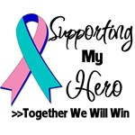 Supporting My Hero Thyroid Cancer Shirts and Gifts