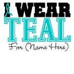 Custom Teal Ovarian Cancer Shirts