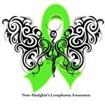 Non-Hodgkin's Lymphoma Tribal Butterfly Shirts