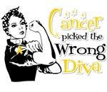 Neuroblastoma Cancer Picked The Wrong Diva Shirts