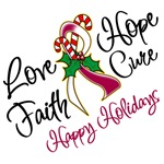Holiday Hope Throat Cancer Shirts