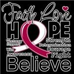 Faith Hope Throat Cancer Shirts