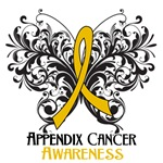 Butterfly Floral Appendix Cancer Shirts and Gifts