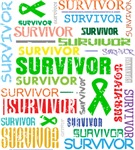 Survivor Colorful Bile Duct Cancer Shirts