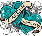 Peritoneal Cancer Survivor Double Heart Shirts