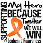 Supporting My Hero Leukemia Shirts and Gifts