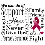 Multiple Myeloma Supportive Words Shirts