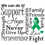 Liver Cancer Supportive Words Shirts and Gifts