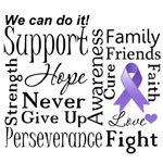 Hodgkins Disease Supportive Words Shirts and Gifts