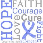 Hope Faith Courage Stomach Cancer Shirts