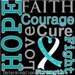 Hope Faith Courage Cervical Cancer Shirts