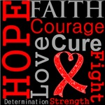 Hope Faith Courage Blood Cancer Shirts