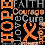 Multiple Sclerosis Hope Courage Faith Shirts