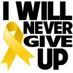 I Will Never Give Up Neuroblastoma Shirts