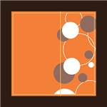 Circles with Orange Background