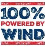 100% Powered by Wind