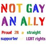 not gay, an ally