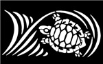 White Sea Turtle Design