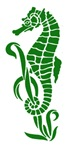Green Sea Horse Design