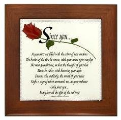 Romantic Poetry Framed Tile
