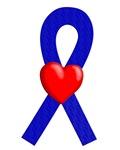 Blue Ribbon Heart