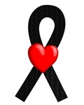 Black Ribbon Heart