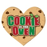 Christmas Choc Chip Heart Cookie Expecting Baby