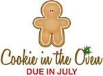 Cookie in Oven Due July