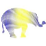 Rainbow Moire Elephant