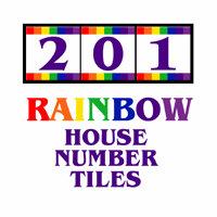 RAINBOW HOUSE NUMBER TILES