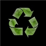 Recycle Symbol Distressed Stressed