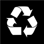 Recycle Logo on Green T-Shirt