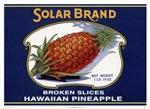 'Solar Brand' Pineapple
