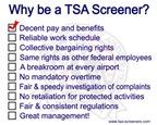 Why Be A TSA Screener?