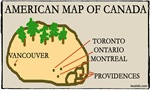 American Map of Canada