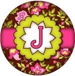 retro boho initial floral designs
