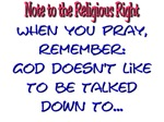 Note to Religious Right