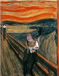 The Scream. With Cats.