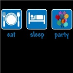 eat sleep party balloons