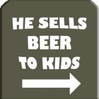 He sells beer to Kids