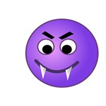 Purple Vampire Smiley