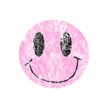 Vintage Pink Smiley 1