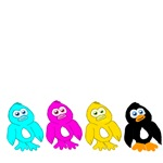 CMYK Penguins