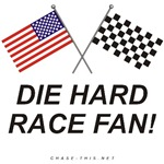 AMERICAN  & CHECKERED FLAG<br />DIE HARD RACE FAN