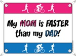 My Mom is FASTER than my Dad - DU