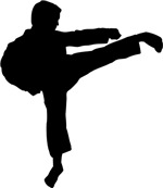Karate, Mixed Martial Arts & Kung Fu Silhouette