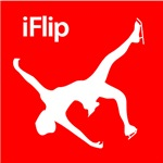 Ice Skating & Figure Skating Red iFlip Silhouette