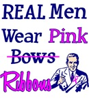 Real Men Wear Pink Ribbons Breast Cancer Support